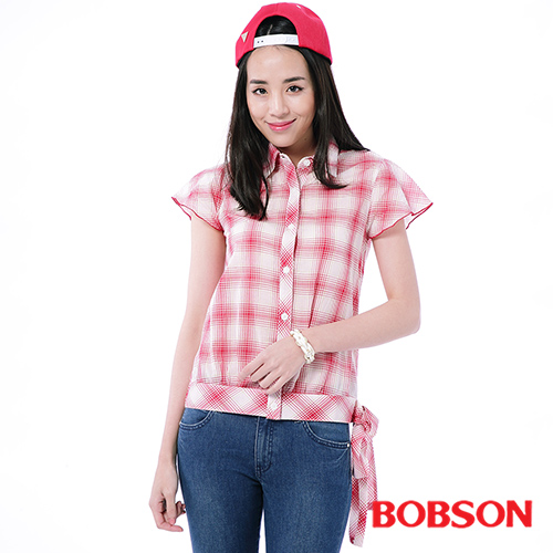 BOBSON 女款格子布上衣 ^(23134~13^)