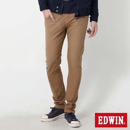 EDWIN 迦績褲 E-FUNCTION磨毛窄直筒色褲-男-灰卡其
