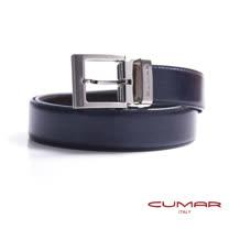 CUMAR 義大利牛皮穿針式造型皮帶 0596-C21-27
