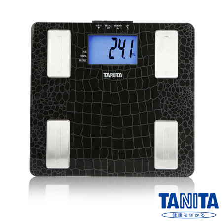 日本TANITA 強化玻璃藍光LCD體脂計 UM-041 高貴黑