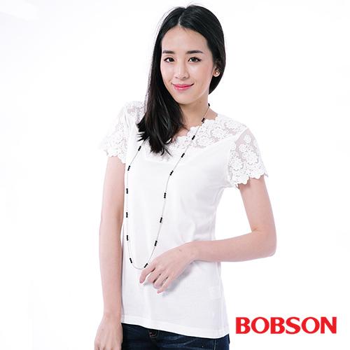 BOBSON 蕾絲上衣^(灰色25079~81^)