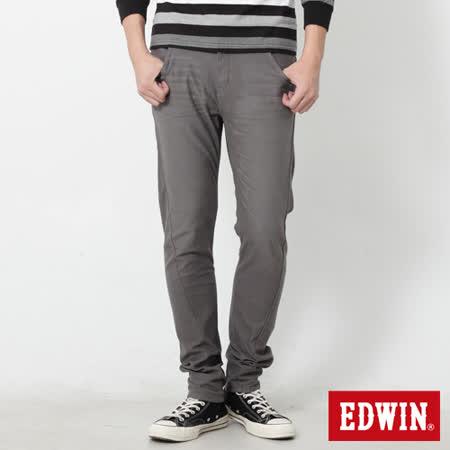 EDWIN 迦績褲 E-FUNCTION磨毛窄直筒色褲-男-灰色