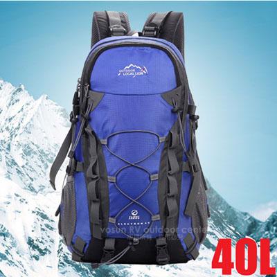 【LOCAL LION】大容量透氣拔熱登山健行背包40L(1.1kg).自助旅行背包.雙肩後背包/防潑水.抗撕裂/443 藍
