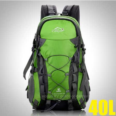 【LOCAL LION】大容量透氣拔熱登山健行背包40L(1.1kg).自助旅行背包.雙肩後背包/防潑水.抗撕裂/443 綠