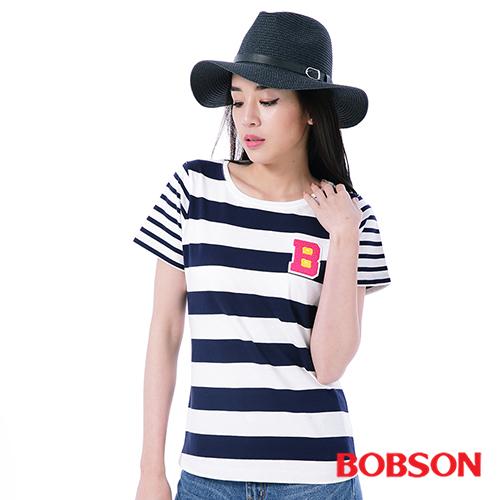 BOBSON 女款粗細條 上衣^(25105~53^)