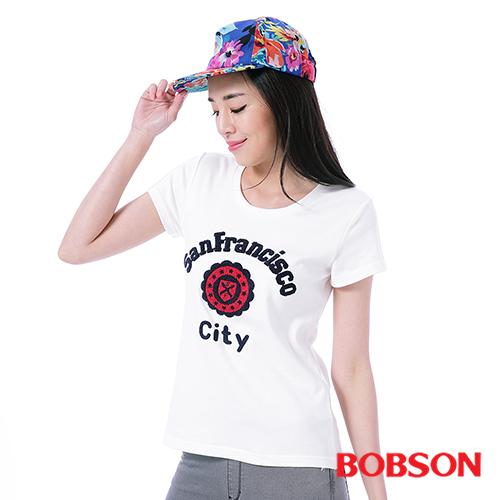 BOBSON 女款毛巾繡T恤^(25121~81^)