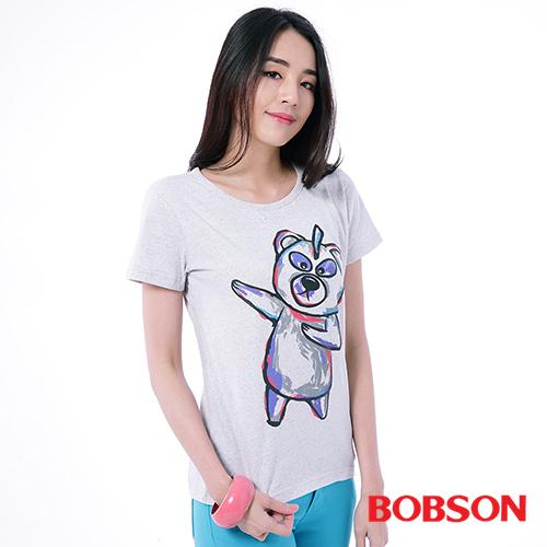 BOBSON 女款印圖T恤^(25123~02^)