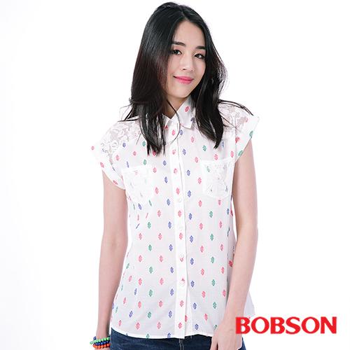 BOBSON 女款 蕾絲布襯衫 ^(25133~81^)