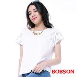 BOBSON  女款星星刺繡上衣(25151-80)