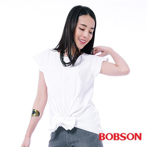 BOBSON 女款綁結式下擺上衣^(26088~80^)