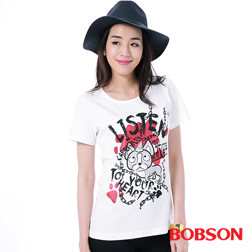 BOBSON 女款印圖上衣^(26093~81^)