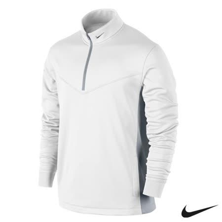 Nike 運動休閒半拉鍊保暖長袖上衣(白)622681-100
