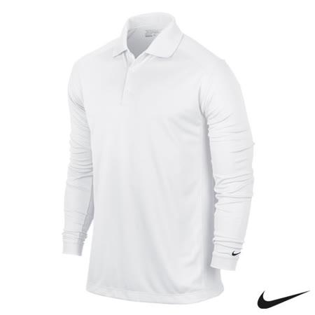 NikeGolf運動休閒快速排汗長袖polo杉(白)544264-100
