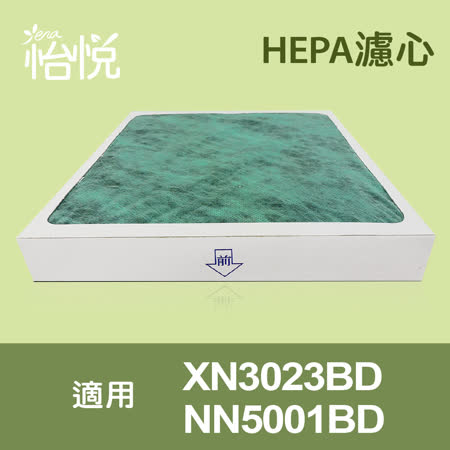【怡悅HEPA濾心】適用東元XN3023BD/NN5001BD空氣清淨機-兩片裝