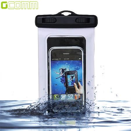 GCOMM IPX8 雙扣鎖高規格手機防水袋 5吋以下通用 潔淨白