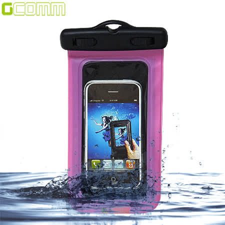 GCOMM IPX8 雙扣鎖高規格手機防水袋 5吋以下通用 透粉紅