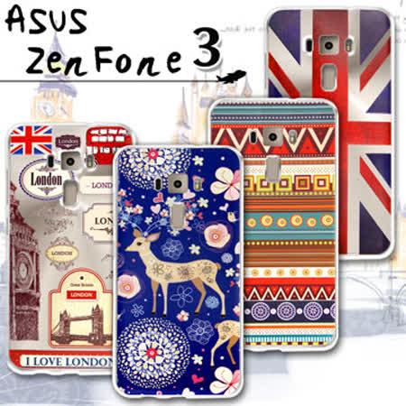 VXTRA ASUS ZenFone 3 5.5吋 ZE552KL 率性風格 彩繪軟式保護殼 手機殼