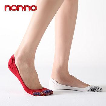 NON-NO 格紋隱形襪套24302(4色)