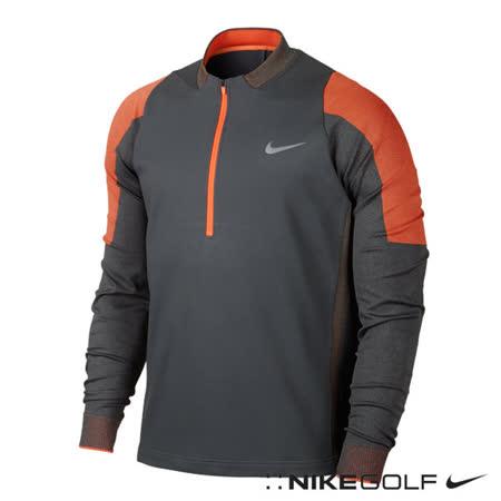 NikeGolf運動休閒快速排汗半拉鍊保暖長袖上衣(灰)687007-021