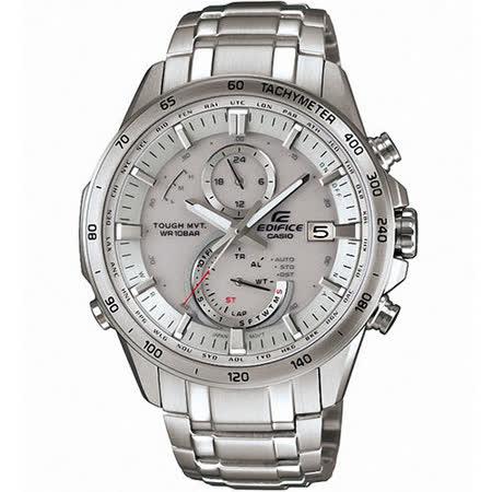 CASIO EDIFICE 太陽能 粗曠有型6局電波計時賽車錶(銀/48.3mm) EQW-A1400D-7A