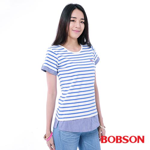 BOBSON 女款仿兩件式上衣^(26102~54^)