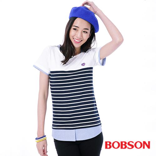 BOBSON 女款仿兩件式上衣^(26103~53^)