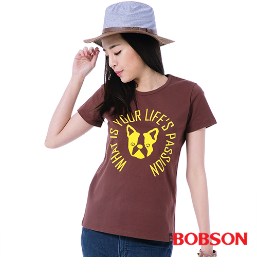 BOBSON 女款印圖上衣^(26141~76^)
