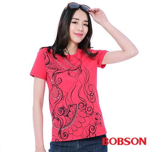 BOBSON 女款印圖上衣^(26142~13^)