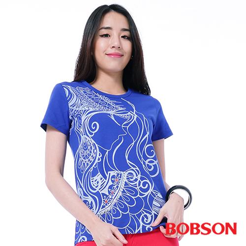 BOBSON 女款印圖上衣^(26142~54^)
