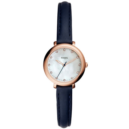 FOSSIL 婉約佳人時尚晶鑽腕錶-ES4083