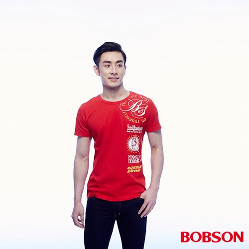 BOBSON 男款印圖上衣 ^(24042~13^)