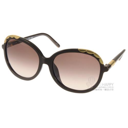 Chloe 太陽眼鏡 法式典雅氣質女款^(咖啡^) ^#CL640SA 210