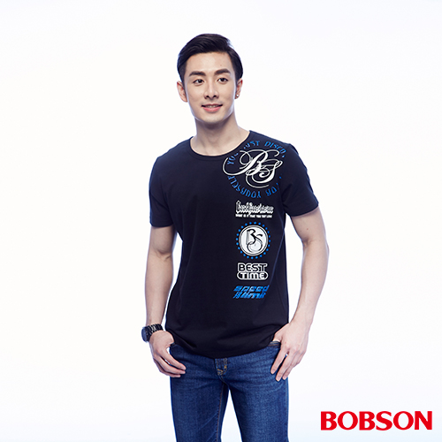 BOBSON 男款印圖上衣 ^(24042~88^)