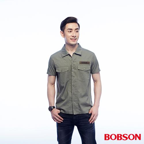 BOBSON 男款軍裝式襯衫^(25004~41^)