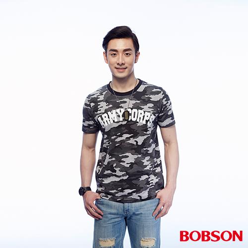 BOBSON 男款迷彩印圖上衣 ^(25014~42^)