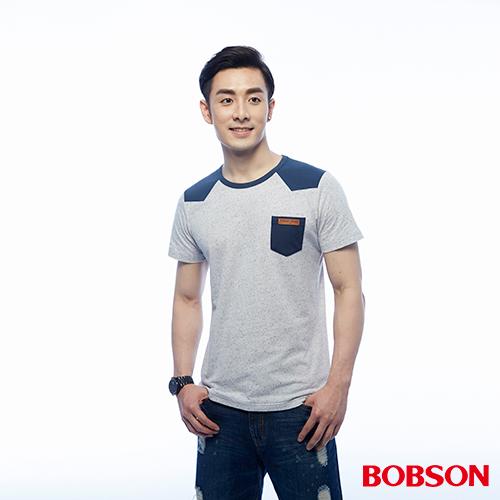 BOBSON 男款配色顆粒布上衣 ^(25031~58^)