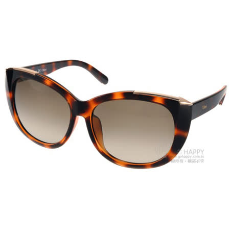 【真心勸敗】gohappy 購物網Chloe 太陽眼鏡 高雅時尚微貓眼款(琥珀) #CL667SA 219評價新竹 遠東 sogo