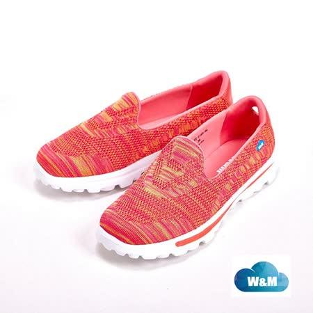 W&M MODARE 飛線編織休閒 女鞋-橘(另有藍/粉)