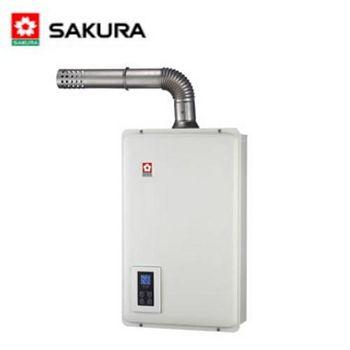 櫻花 SH-1670F屋內大廈型強制排氣浴SPA數位恆溫熱水器 16L