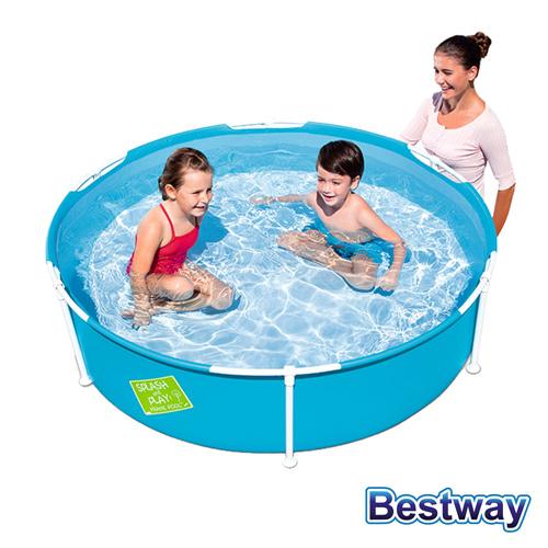 ~BESTWAY~圓型框架式兒童泳池戲水池