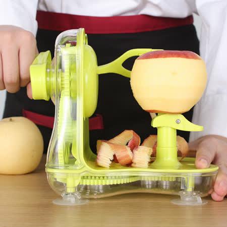 PUSH! 廚房用品手搖水果削皮器削蘋果削皮機器削皮刀D83