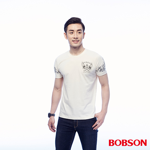 BOBSON 男款印圖上衣 ^(25047~81^)