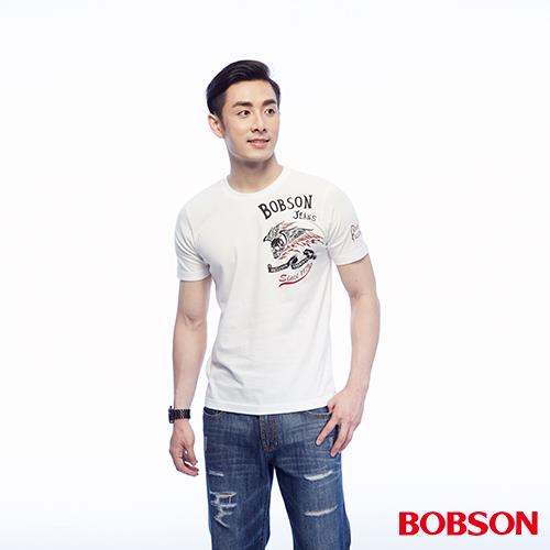 BOBSON 男款印圖上衣 ^(25048~80^)