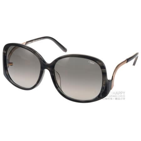 Chloe 太陽眼鏡 法式典雅大框女款 (灰琥珀) #CL681SA 023