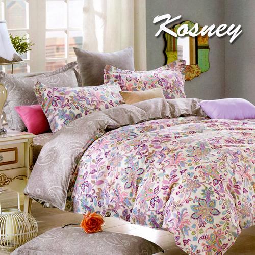 ~KOSNEY 曼妙花季~雙人精梳棉四件式兩用被床包組