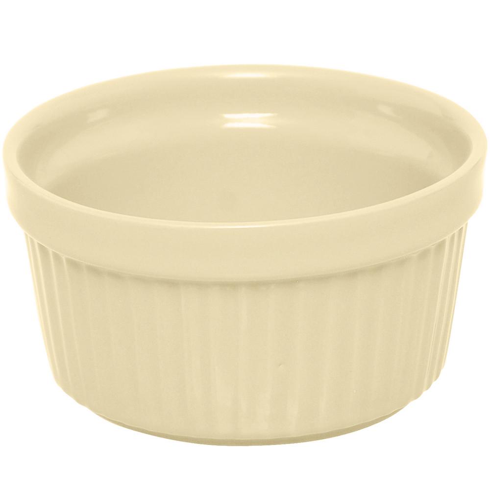 ~EXCELSA~Trendy陶製布丁烤杯 奶油黃9cm