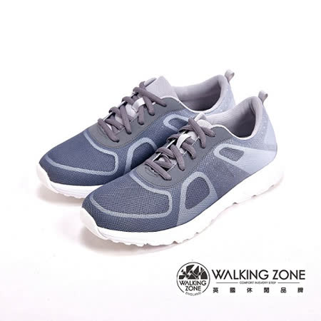 WALKING ZONE 漸層色造型 戶外運動鞋 女鞋-灰(另有粉)