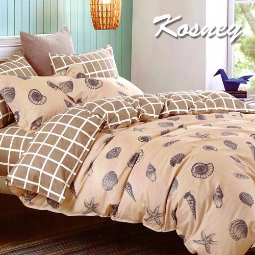 ~KOSNEY 海螺灣~雙人精梳棉四件式兩用被床包組