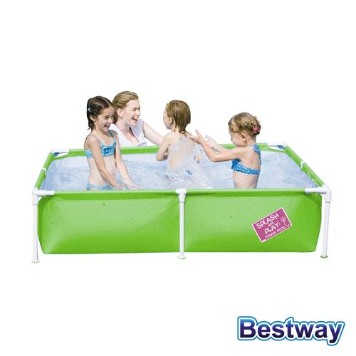 【BESTWAY】方型框架式兒童泳池.戲水池-大 (快樂 購 網站綠)