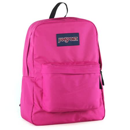 JanSport校園背包(SUPER BREAK)-桃紅
